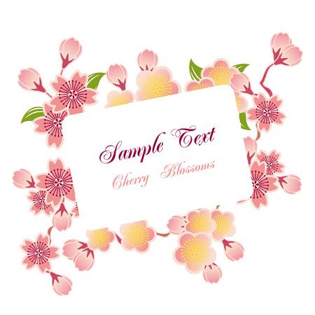 Cherry blossoms frame. 向量圖像