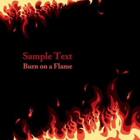 Fire background. Illustration vector.