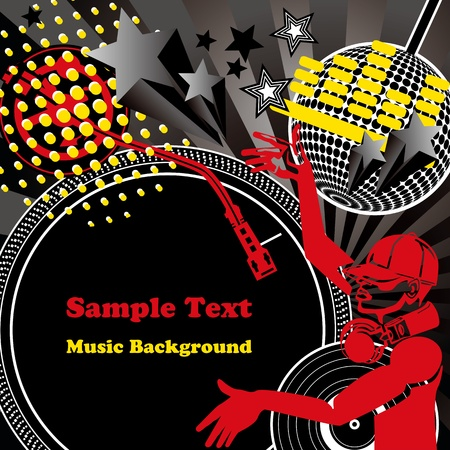 Music background. Illustration vector. Stock Vector - 9161418