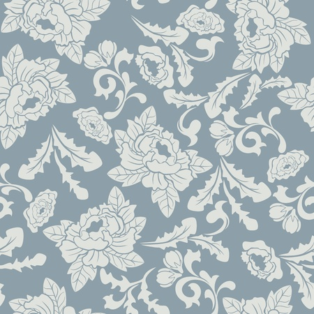 Abstract seamless floral pattern. Illustration vector. Vector