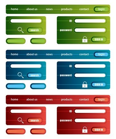Web site template. Illustration vector. 矢量图像