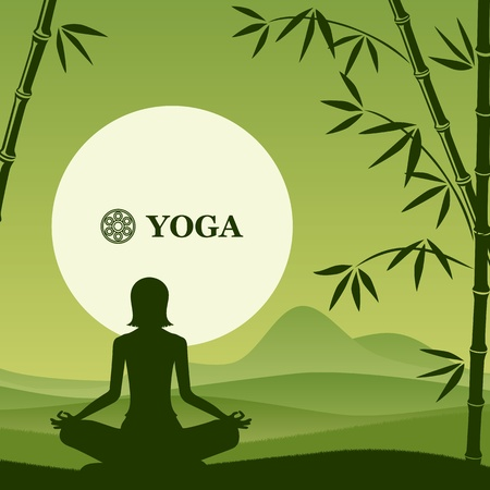 Yoga and pilates background.  Vector