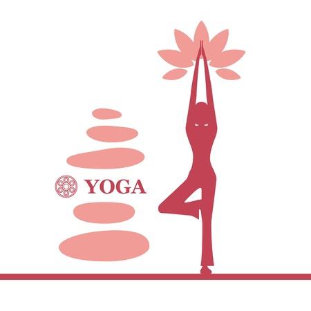 Yoga and pilates background. Illustration