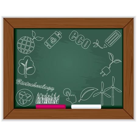 icono ecologico: Marco de pizarra de eco. Vector de la ilustraci�n.