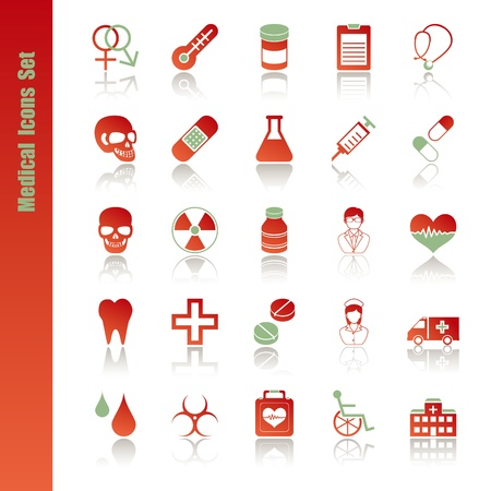 Medical icons set. Illustration vector. Stock Vector - 9273368