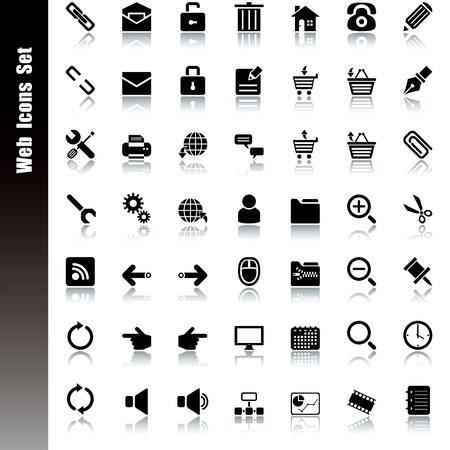 Conjunto de iconos de Web. Vector de la ilustración.