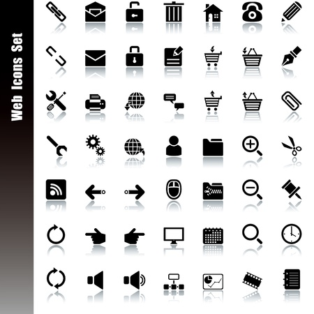 Web icons set. Illustration vector. Vector