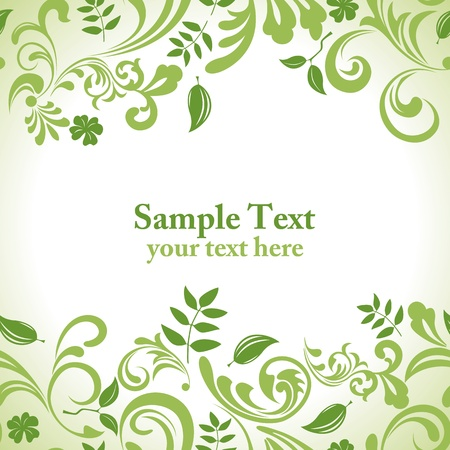Green leaf banner set. Illustration vector.  Vector