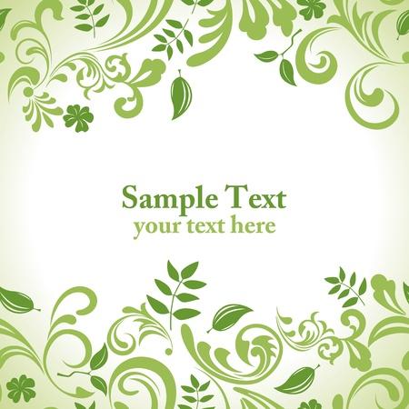 Green leaf banner set. Illustration vector. Stock Vector - 9349117