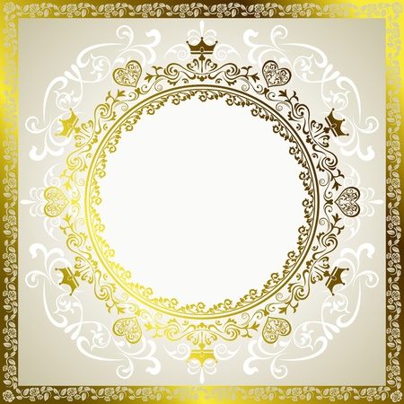 Abstract decoration frame. Illustration vector.  Vector