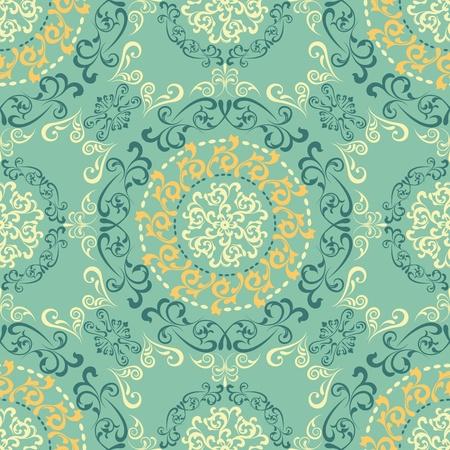 抽象的なシームレスなレトロ パターン。イラスト ベクトル。