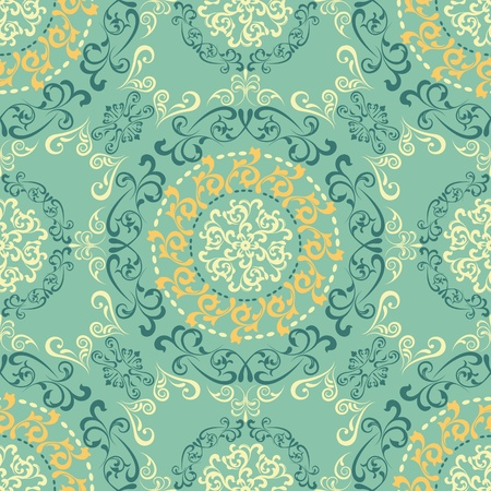 Abstract seamless retro pattern. Illustration vector. Vector