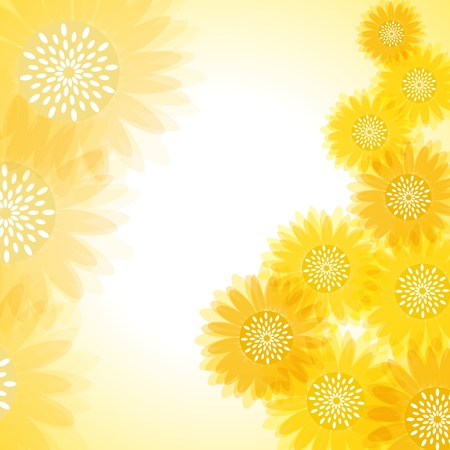 Sunflower background. Illustration vector. Vector