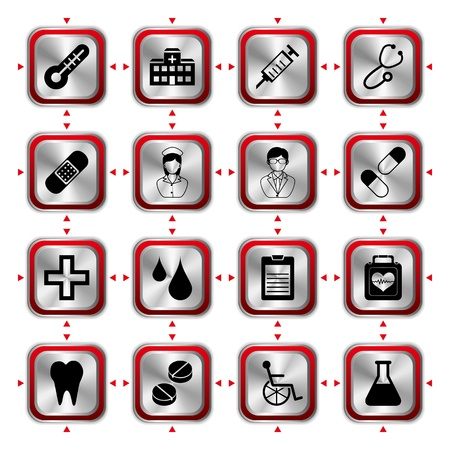 Medical icons set HL. Illustration vector Stock Vector - 9405619