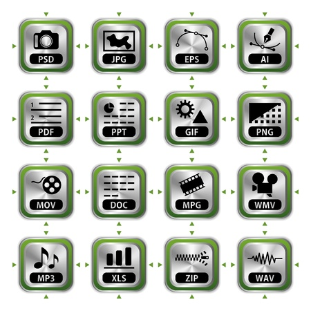 File icon set. Illustration vector. Vector