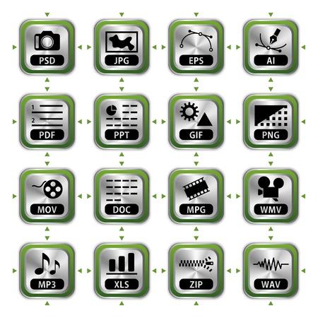 File icon set. Illustration vector. Stock Vector - 9421121