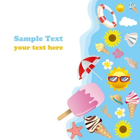Summer background. Illustration vector. Stock Vector - 9454456