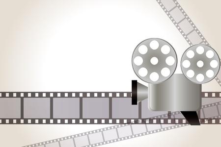 映画の背景。イラスト。  イラスト・ベクター素材