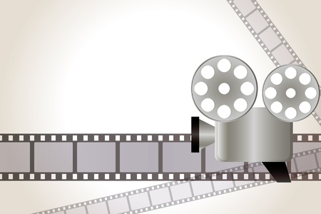 ressalto: Film background. Illustration . Ilustra��o