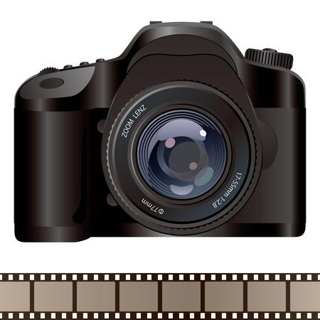 Camera. Illustration . Stock Vector - 9486186