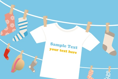 t shirts: Laundry frame. Illustration vector.