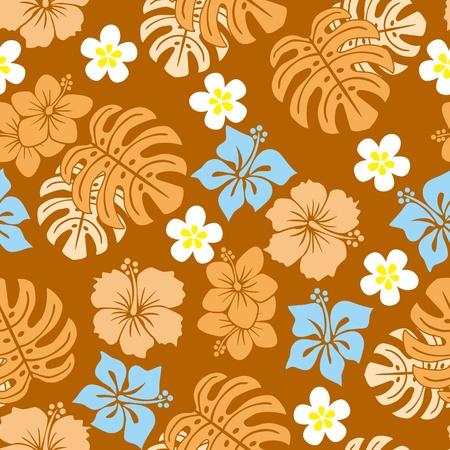 폴리네시아: Seamless tropical pattern.  일러스트