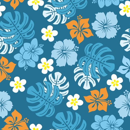 hawaii islands: Seamless tropical pattern.