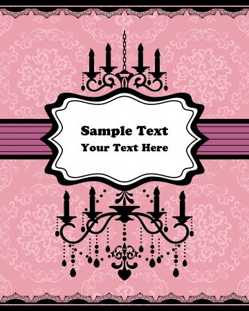 Chandelier frame. Vector