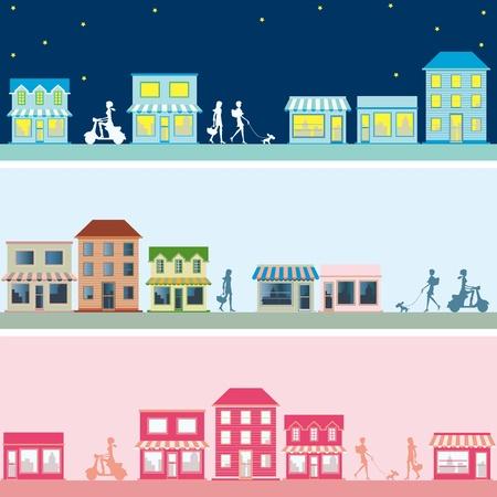 Town banner set. Illustration vector.
