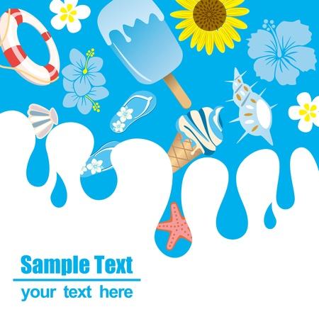 float fun: Summer background. Illustration vector.