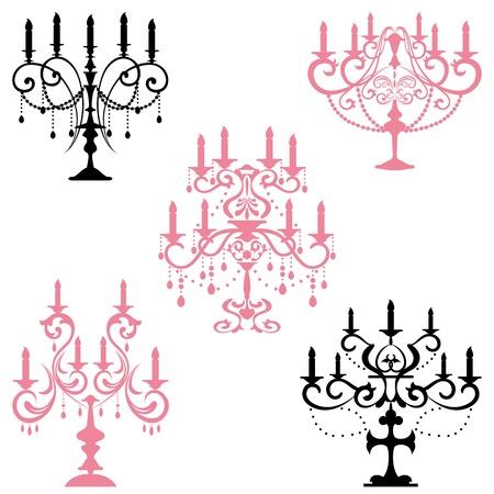 Candélabres. Illustration vectorielle.