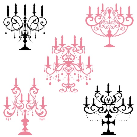 Candelabra. Illustration vector. Vector