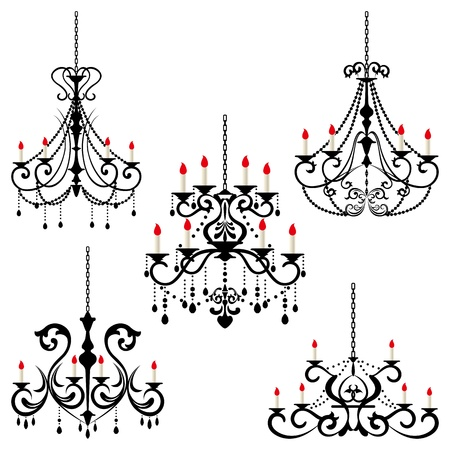 Chandelier. Illustration vector.