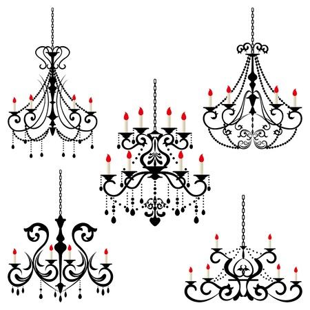 Chandelier. Illustration vector.