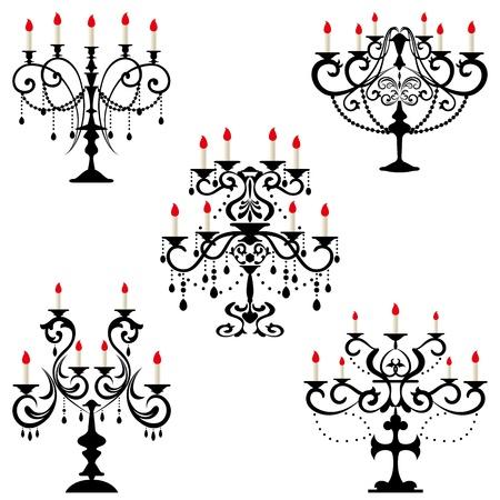 Candelabra. Illustration vector. Stock Vector - 9605392