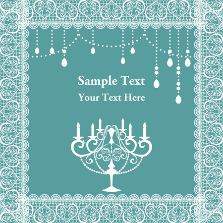 Lace frame. Illustration vector. Stock Vector - 9605401