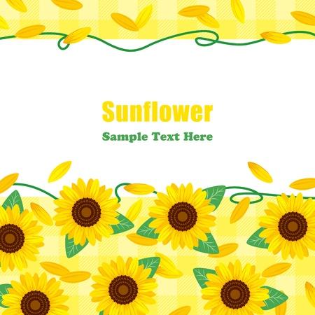 Sunflower Frame. Illustration vector. Stock Vector - 9639714