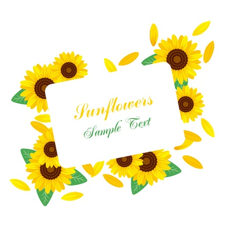Sunflower frame. Stock Vector - 9676818