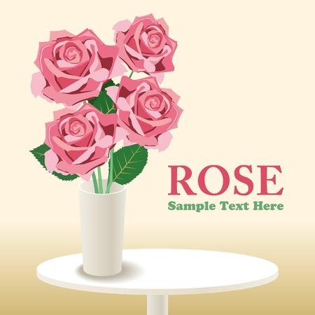 Rose.  Vector Illustratie