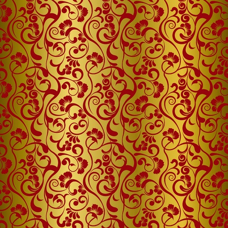 Asian floral pattern Stock Vector - 9932428