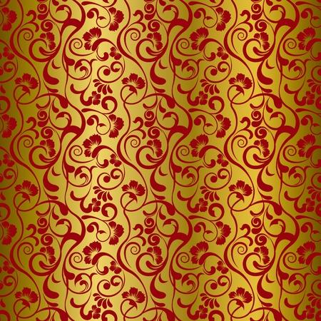 motif indiens: Asie du motif floral