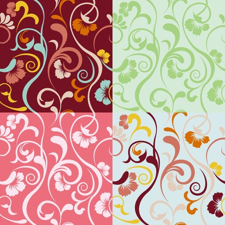 추상 원활한 플로랄 패턴