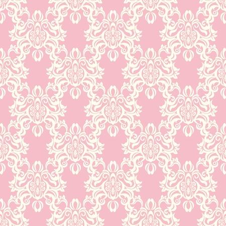 원활한 꽃 복고풍 패턴.
