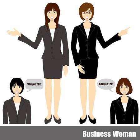 etnia: Conjunto de mujer de negocios.