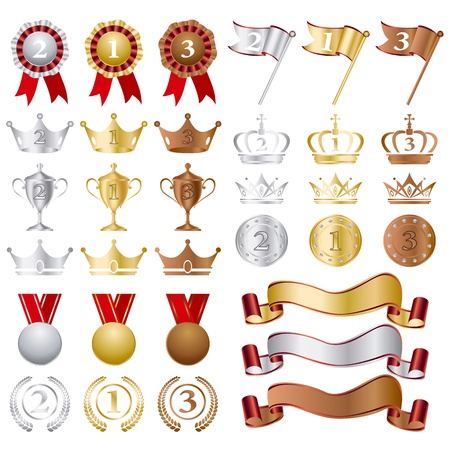 conquistando: Oro plata bronce premios establecer.
