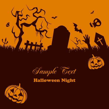 cemetery: Halloween Background Illustration