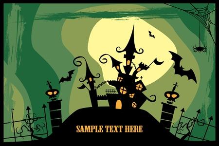 horror castle: Castillo. Imagen de Halloween. Vectores