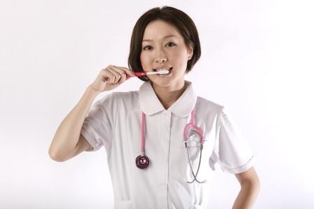 Beautiful asian nurse  photo