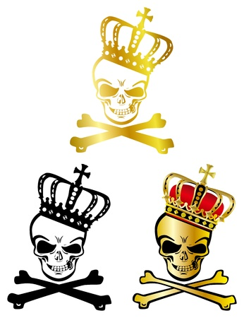 skull and crown: Crown skull Illustration