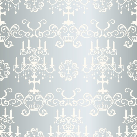 Seamless silver design pattern Vector
